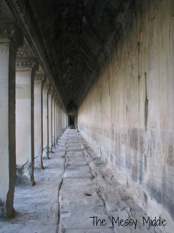 This is at Angkor Wat and is deceptively devoid of people