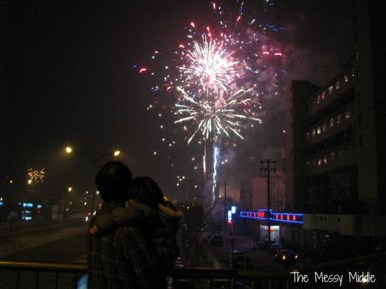 This is my favorite picture from the night. A dad, a daughter and fireworks.