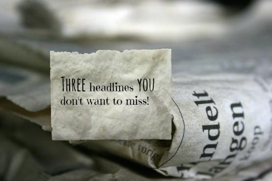 3 headlines