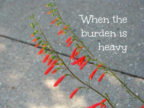 When the burden is heavy