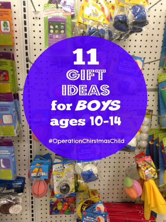 Eleven Gift Ideas for Boys ages 10-14 (Operation Christmas ...