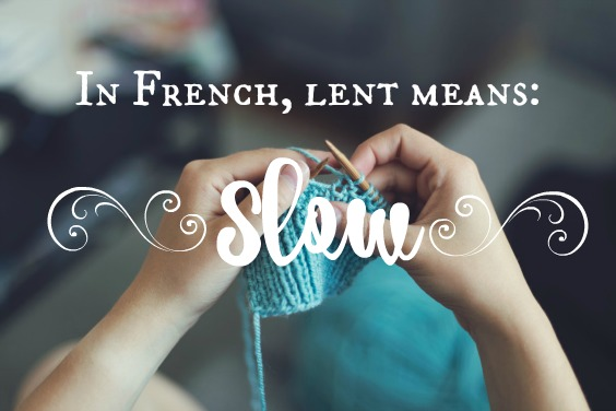 French means slow