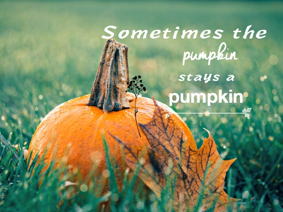 Sometimes a pumpkins stays a pumpkin