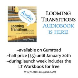 Looming Transitions the Audiobook is here! (and how it was made)